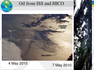 Oil from ISS and HICO