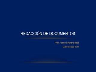 Redacci�n de Documentos