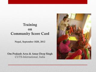 Training on  Community Score Card Nepal, September 1820, 2012