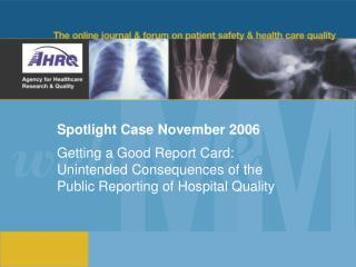 Spotlight Case November 2006
