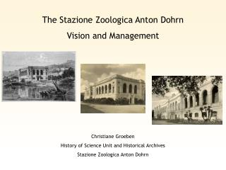 The Stazione Zoologica Anton Dohrn Vision and Management
