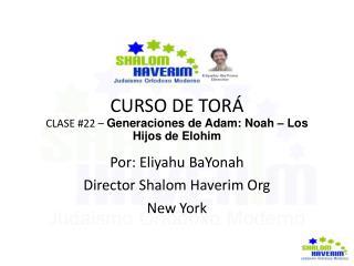 CURSO DE TORÁ CLASE #22 –  Generaciones de Adam: Noah – Los Hijos de Elohim