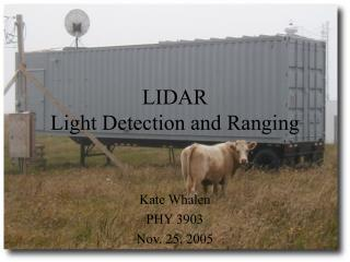 LIDAR Light Detection and Ranging