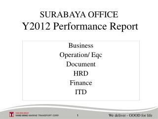 SURABAYA OFFICE Y20 12  Performance Report