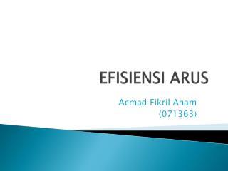 EFISIENSI ARUS