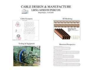 CABLE DESIGN  MANUFACTURE LBNL