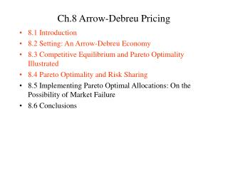 Ch.8 Arrow-Debreu Pricing