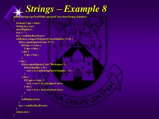 Strings – Example 8