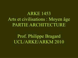 ARCHITECTURE CIVILE