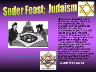 Seder Feast:  Judaism