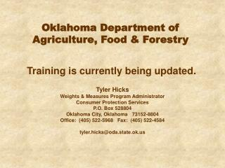 Oklahoma Department of Agriculture, Food  Forestry