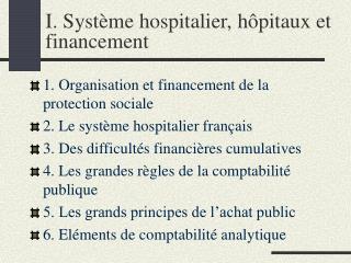 I. Syst me hospitalier, h pitaux et financement