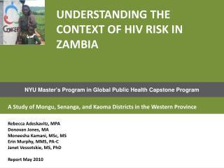 NYU Master's Program in Global Public Health Capstone Program