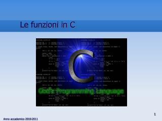 Le funzioni in C