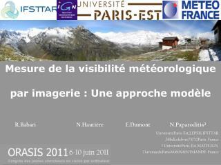 Mesure de la visibilité météorologique par imagerie : Une approche modèle