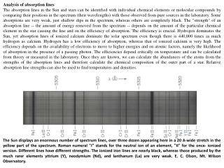 Analysis of absorption lines