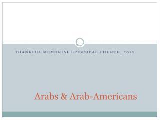 Arabs & Arab-Americans