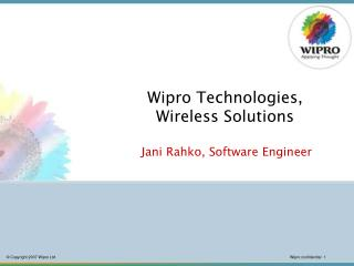 Wipro Technologies, Wireless Solutions