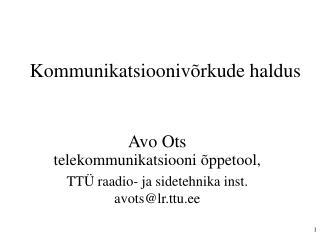 Kommunikatsioonivõrkude haldus