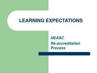 LEARNING EXPECTATIONS