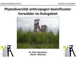 Phytodiversität anthropogen beeinflusster Vorwälder im Ruhrgebiet