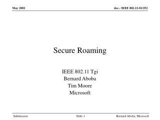 Secure Roaming