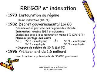 RREGOP et indexation