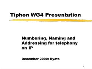 Tiphon WG4 Presentation