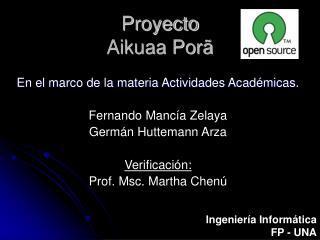 Proyecto Aikuaa Porã