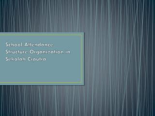 School Attendance Structure Organization in  Sekolah Ciputra