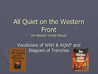 All Quiet on the Western Front Im Westen nichts Neues
