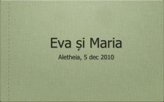Eva și Maria