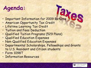 Important Information for 2009 Returns American Opportunity Tax Credit