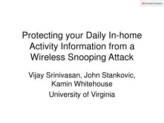Protecting your Daily In-home Activity Information from a ...