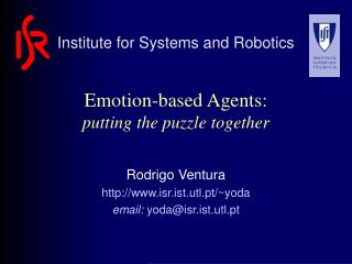 Emotion-based Agents: putting the puzzle together