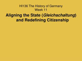 HI136 The History of Germany Week 11