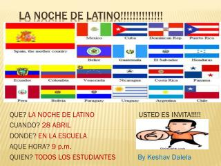 La  noche  de  latino !!!!!!!!!!!!!!