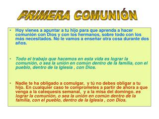 PRIMERA COMUNI�N