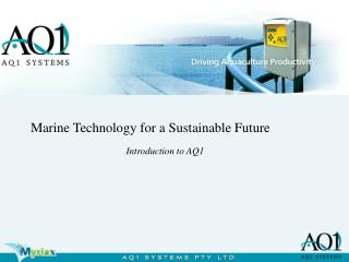 Marine Technology for a Sustainable Future