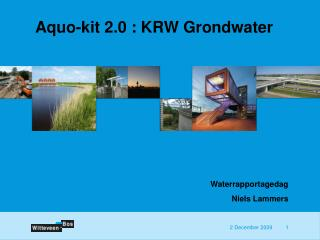Aquo-kit 2.0 : KRW Grondwater