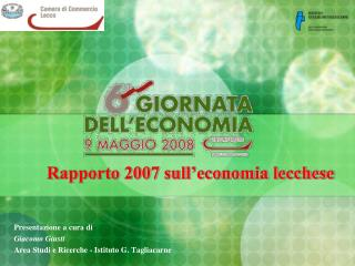 Rapporto 2007 sull'economia lecchese