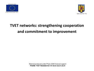 TVET networks: strengthening cooperation and commitment to improvement