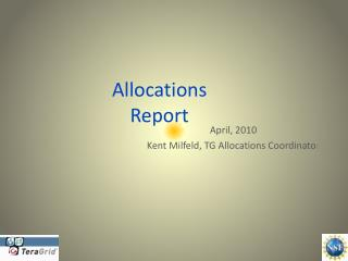 Allocations  Report