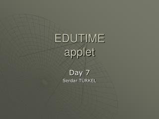 EDUTIME applet