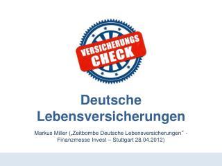 Deutsche Lebensversicherungen