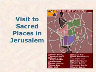 Visit to Sacred Places in Jerusalem