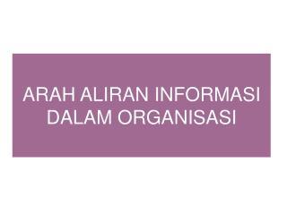 ARAH ALIRAN INFORMASI DALAM ORGANISASI