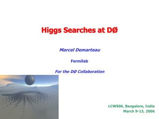 Higgs Searches at D