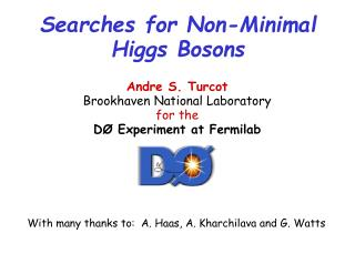 Searches for Non-Minimal  Higgs Bosons