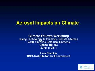 Aerosol Impacts on Climate